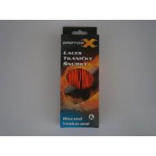Raptor-X šnúrky voskové Oranžová/Čierna
